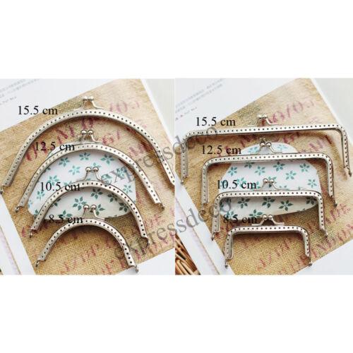 Fermoir pour Porte Monnaie Sac Bourse Coloris Argent Métal 8,5//10,5//12,5//15,5 cm