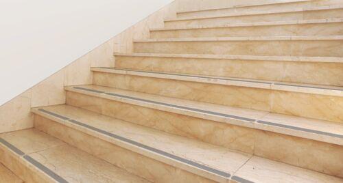 Gris en caoutchouc anti-dérapant bande 3 cm de large pour leurs escalier
