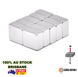 20X Strong 10X10X5 N45 Neodymium Rare Earth Block Square Magnets Craft Art Build