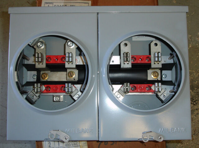 Milbank Meter Socket Two Gang 2 Position Meter 100 Amp Top Left Right Feed For Sale Online Ebay