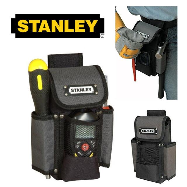 "Stanley Tools 9"" Pocket Tool Pouch Heavy Duty Work Belt Organizer Tool Holder UK"