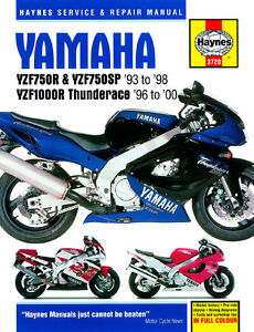 haynes manual 3720 yamaha yzf750r yzf1000r thunderace 93 00 rh ebay co uk
