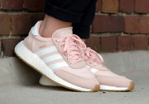 Adidas Women s INIKI RUNNER  BY9094  ICY PINK  WHITE-GUM  NEW AND ... f9457f929