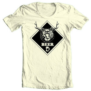 57e50a16b BEER T-shirt Bear Deer funny hunting novelty 100% cotton graphic tee ...