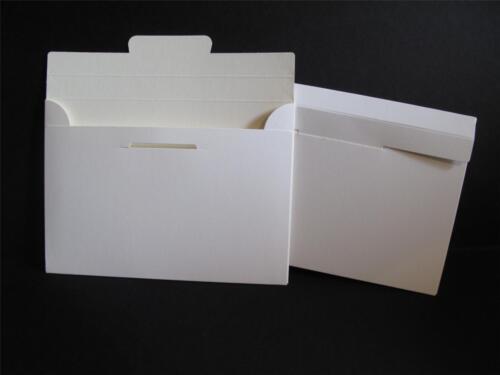 10 x Smooth White Card Invitation Envelopes 175mm x 125mm AM282 Cream Inner