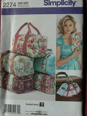 Simplicity Pattern 2274 Overnight Bag, Clutch and Luggae Tags duffle duffel