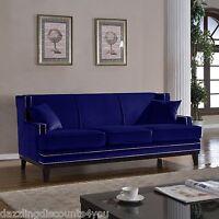 Oxford Sofa 100 Blue Denim Cotton Down Cushions 8 Way Hand