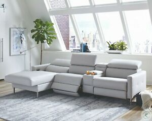 Grey 3 Recliner Usb Sofa Chaise