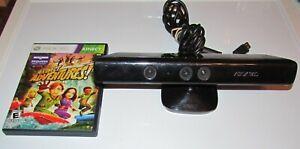 Microsoft-XBox-360-Kinect-Sensor-Bar-Black-Model-1414-With-Kinect-Adventures