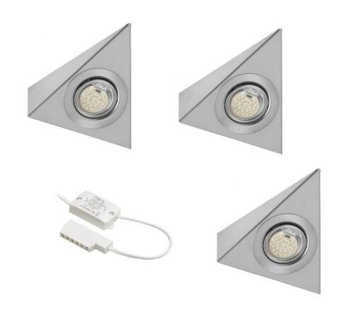 Iluminación De Cocina Unidad De Satén Led//acero bajo Kit de luz del gabinete con Driver
