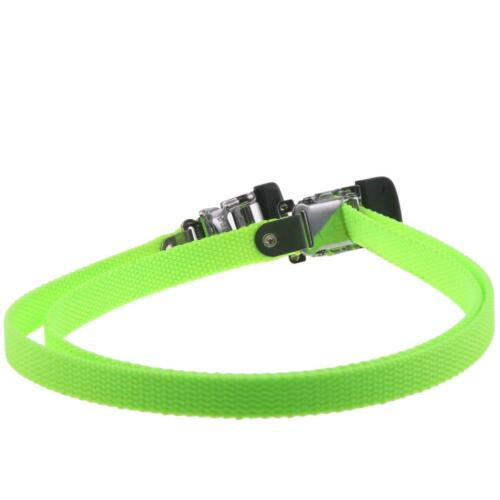 Retro Pedalriemen Nylon Tioga Neongrün Quick-Flick II Fussriemen Pedal Riemen