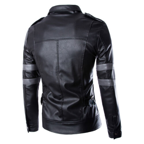 Leon Scott Kennedy Game Cosplay Costume Leather Coats/&Jacket Resident Evil 6