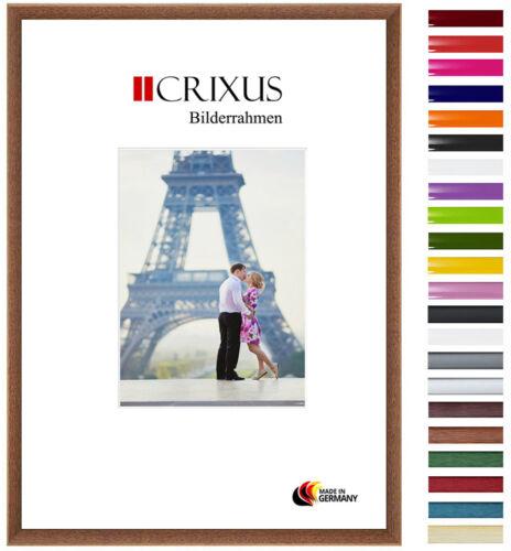 CRIXUS23 Echtholz Bilderrahmen in Eiche Rustikal Braun Foto Poster Rahmen B/_46