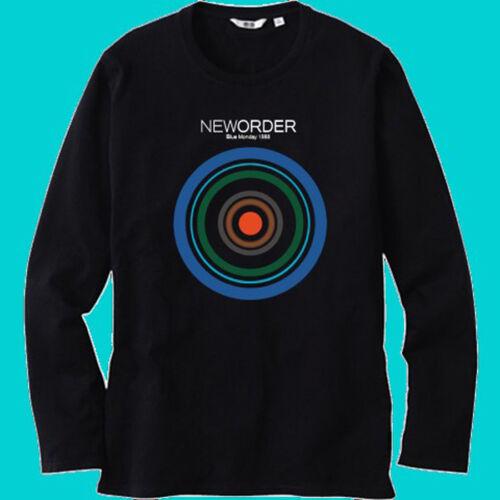 NEW ORDER Blue Monday 1988 Logo Men Black Long Sleeve T-Shirt Size S-3XL