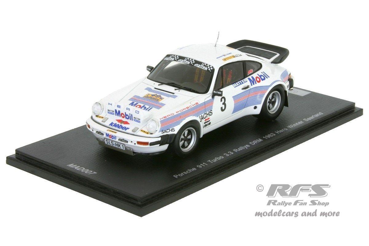 Vuelta de 10 dias Porsche 930 (911) Turbo-Sarre rally 1983-manfrojo Hero - 1 1 1 43 Spark  marcas de moda