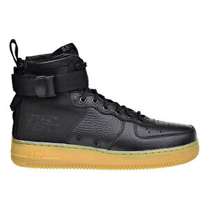 bcead287c6024 Nike SF Air Force 1 MID Mens Shoes Black Gum Light Brown 917753-003 ...