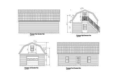 20X30 -GARAGE PLAN GAMBREL ROOF 30 x 20 GARAGE PRINT BLUEPRINT PLAN  #17-2030-GMB | eBay
