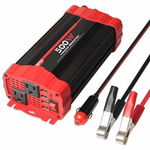VEMOTE 150W Car Power Inverter DC 12V to 110V AC Converter 3.1A Dual USB Charging Ports and 1 AC Outlets Car Charger Adapter
