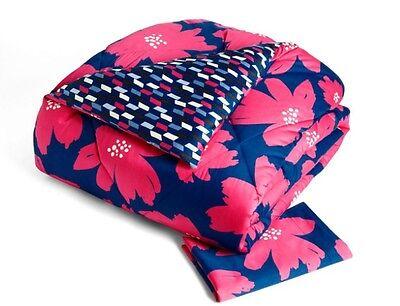 VERA BRADLEY Sateen Comforter Set ART POPPIES Twin Twin/XL NEW in Package $149