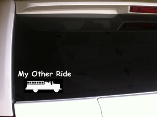 """My Other Car Firetruck Car Decal Vinyl Sticker 6/"""" *B34* Fireman Rescue EMT Fight"""