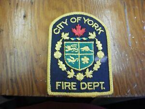 North York Fire Department Shoulder Patch-Old Defunct,Toronto,Ontario,Canada