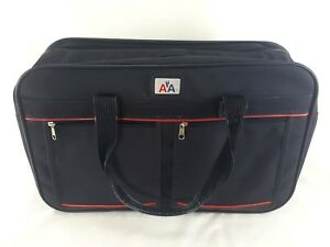 Vintage 1970 s AMERICAN AIRLINES Canvas Red White Blue Carry-On TOTE ... e93a861f3abe5