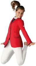 Animo Girls Competition Show Jacket Age 6 - 8 Red BN