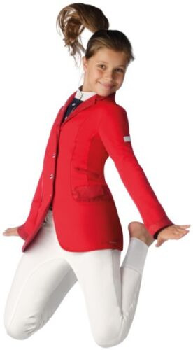 Animo Girls Competition Show Jacket Age 6 8 Red BN