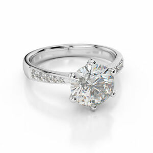 D-VVS1-Engagement-Ring-2-00-Carat-Round-Cut-14k-solid-White-Gold-Bridal-Jewelry