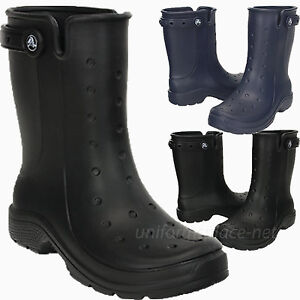 de417daf6b9959 Image is loading Crocs-Rain-Boots-Unisex-Reny-II-Waterproof-Mid-