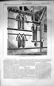 Antique-Old-Print-Exterior-University-Museum-Oxford-Architecture-1859-Builder