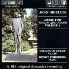 Sibelius: Music for Violin and Piano, Vol. 1 (CD, Oct-1994, BIS (Sweden))