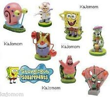 (7) SPONGEBOB AQUARIUM DECORATION ORNAMENTS PLANTS NEW SET ALL FIGURES