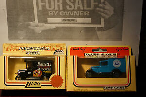 Rare-Models-of-DAYS-GONE-Bassetts-Allsorts-Promo-and-Fresh-Dairy-Boxed-Van