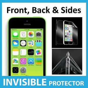 iPhone-5C-Full-Body-INVISIBLE-Screen-Protector-Shield-Front-Back-amp-Sides-Inc