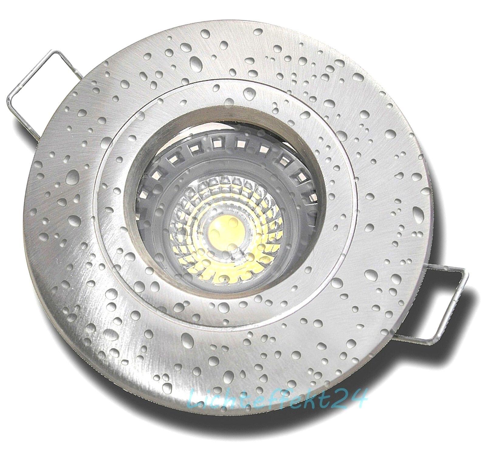 IP54 7W LED Einbauspot für Feuchträume, Duschen, Bäder oder Aussen. 230V DIMMBAR