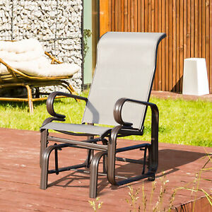 Outsunny Outdoor Bench Rocker Garden Gliding Chair Swing Seat Porch
