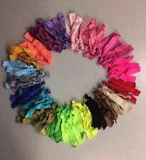 100 Hair Ties elastic ponytail holders wholesale lot Rainbow color