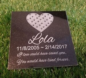 Details About Memorial Headstone 6x6 Grave Marker Dog Cat Pet Stone Granite Stone Rottweilers