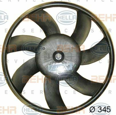8EW 351 041-661 HELLA Fan  radiator Right