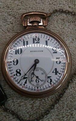 Hamilton 17 Jewel Railroad Pocket Watch
