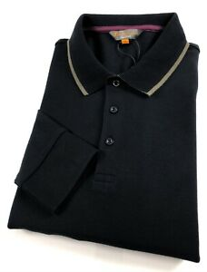 Ben-Sherman-Polo-Shirt-homme-a-manches-longues-Coupe-Standard-Noir-Tipped-0060644
