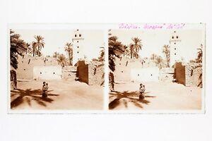 Biskra-Algeria-Foto-Stereo-L3n1-Vintage-Placca-Da-Lente