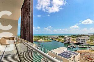 Departamento en Venta en Cancun en Riva Puerto Cancun de 3 Recamaras
