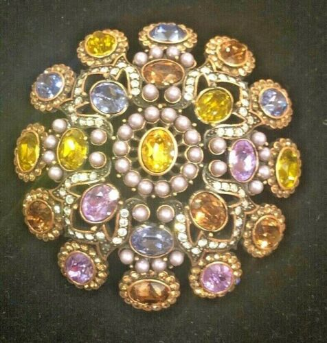Stunning Vintage Joan Rivers Crystal and Faux Pear