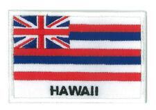 Patch écusson insigne patche drapeau Hawaii 70 x 45 mm brodé