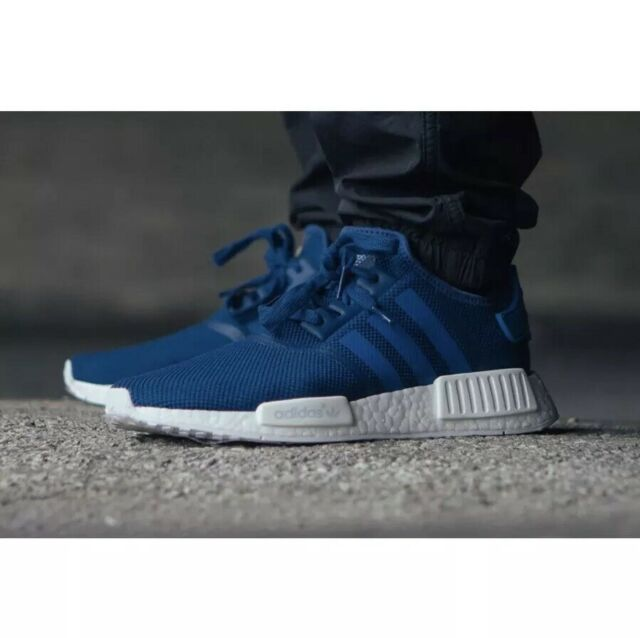 sneakers for cheap 59586 62ad3 Adidas NMD R1 Collegiate Navy Blue White Men's Size 9 S31502 Boost