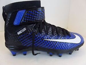 6eadc26018f New Nike Lunarbeast Elite TD Black White Blue   779422-014 Football ...