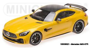 MINICHAMPS  55036021- MERCEDES-AMG GT-R – 2017 – YELLOW  1 18