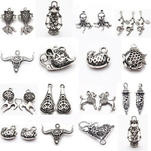 Wholesale new bulk lots tibetan silver mixed pendants charms crafts image is loading wholesale new bulk lots tibetan silver mixed pendants aloadofball Gallery